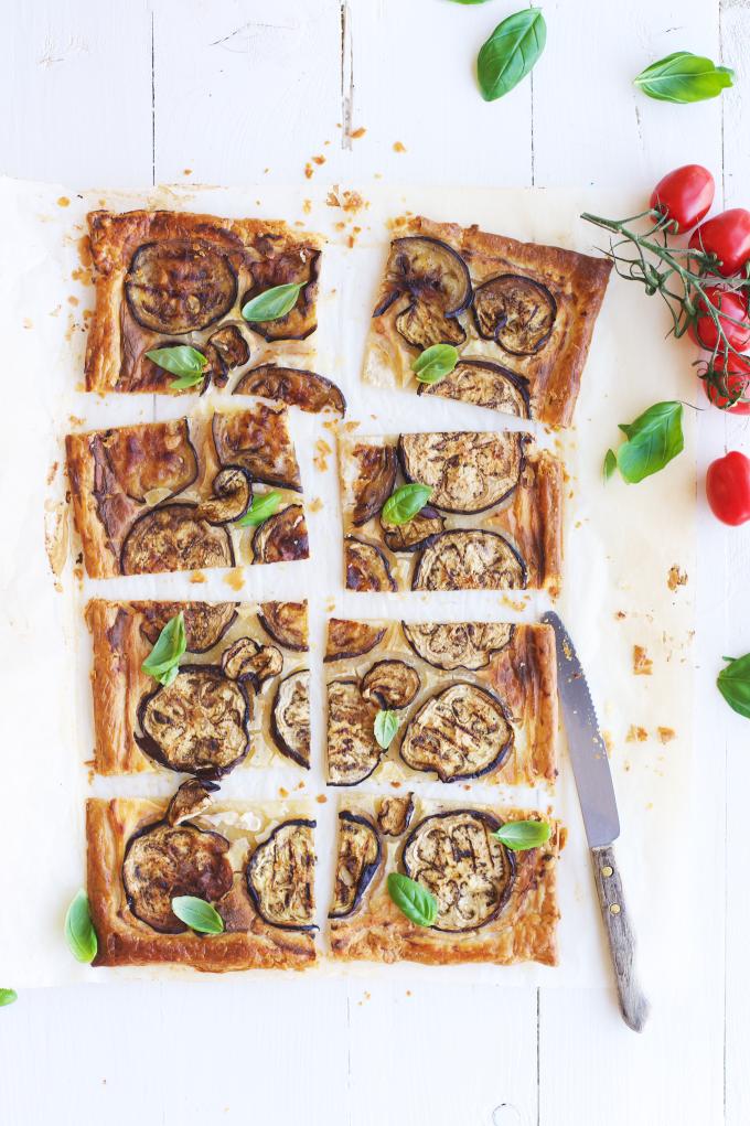 Ricotta aubergine hartige taart (2)