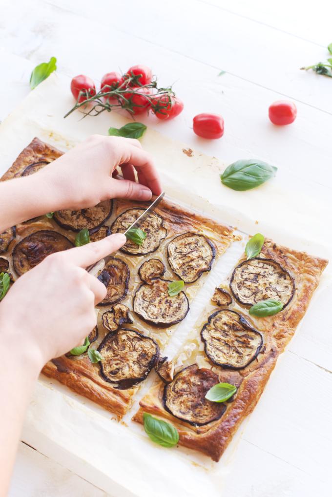 Ricotta aubergine hartige taart (3)