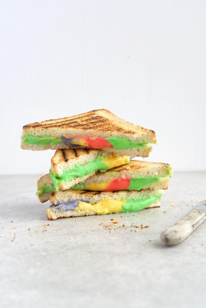 Gekleurd eten met kleurstof