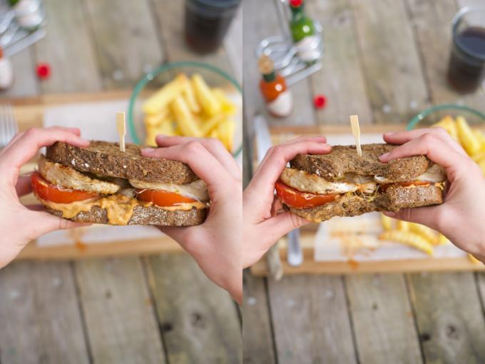 Gegrilde kipburger met friet (gezond recept!) (13)