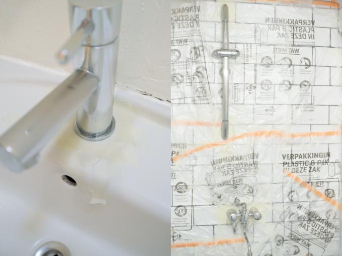 Badkamer Accessoires Goud : Vernieuw oude badkameraccesoires met goudspray a cup of life