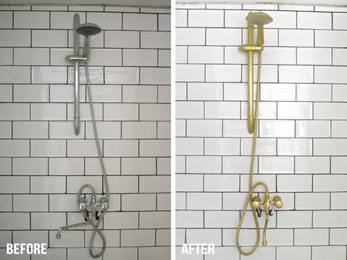 Kranen badkamer goud spuiten (15)