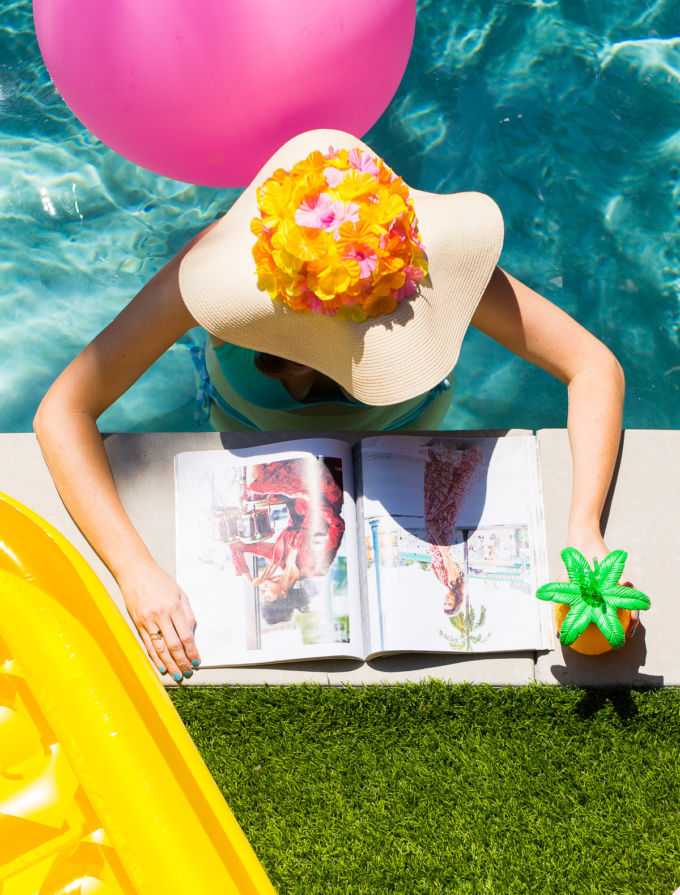 DIY-Floral-Floppy-Hat-Pool-Quotes-61