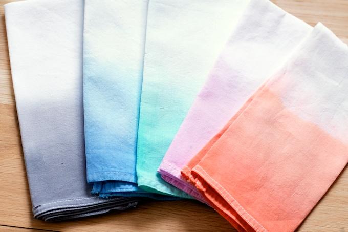 Dip dyed servetten