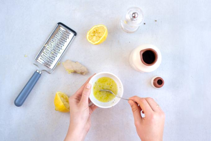 Wortelsalade met gember en citroen