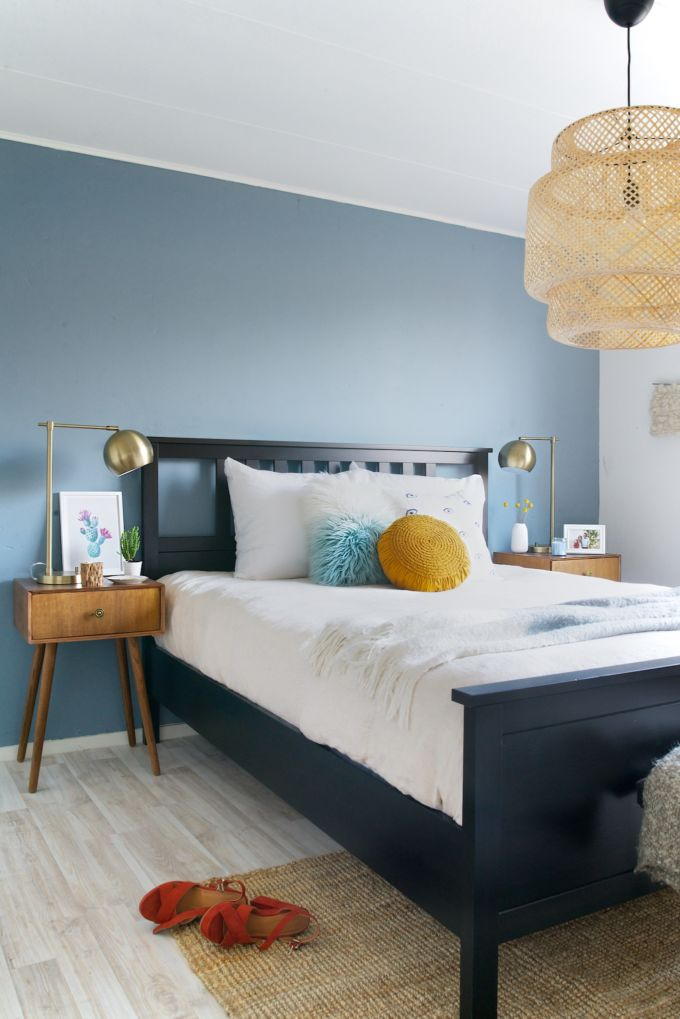 Slaapkamer make-over a cup of life met denim drift
