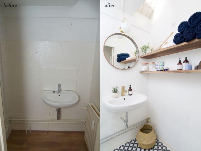 a cup of life badkamer voor en na