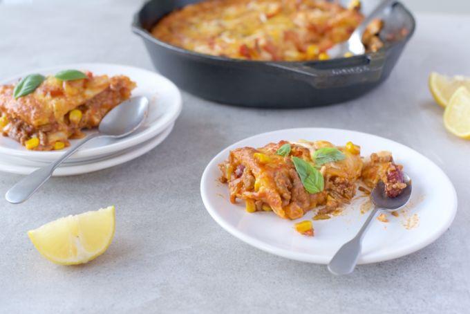 mexiaanse tortilla lasagne 1
