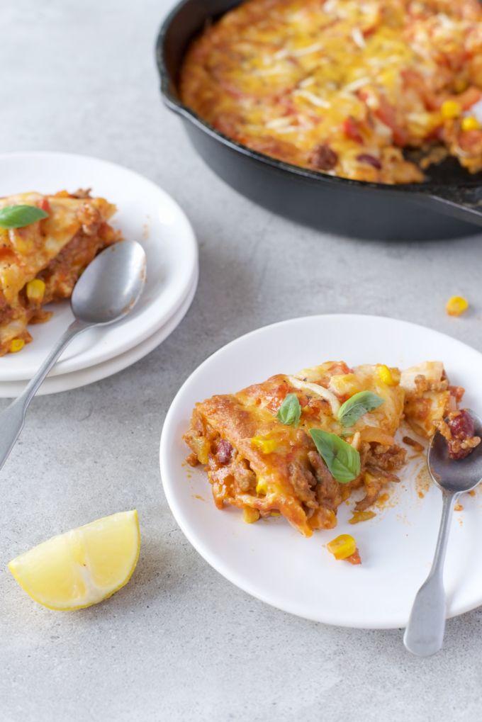 mexiaanse tortilla lasagne