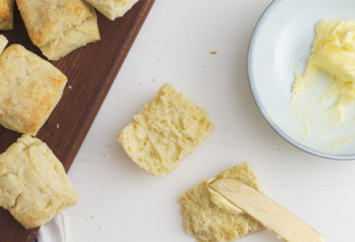 Recept voor Amerikaanse buttermilk bisquits