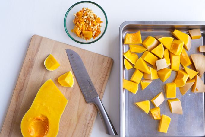 Geroosterde pompoensoep recept met gember en citroen. Zo lekker!