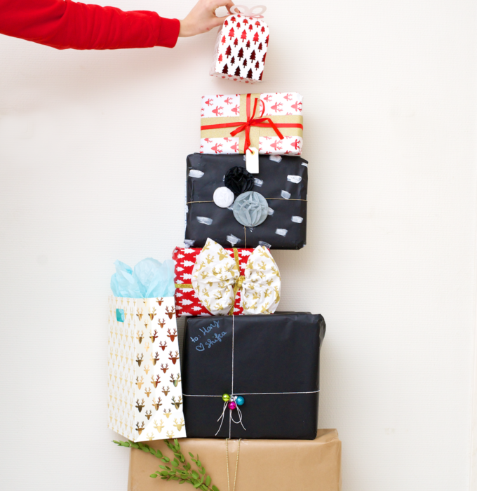 Kerst cadeaus inpakken met hema