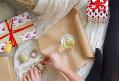 Kerstcadeaus inpakken met HEMA