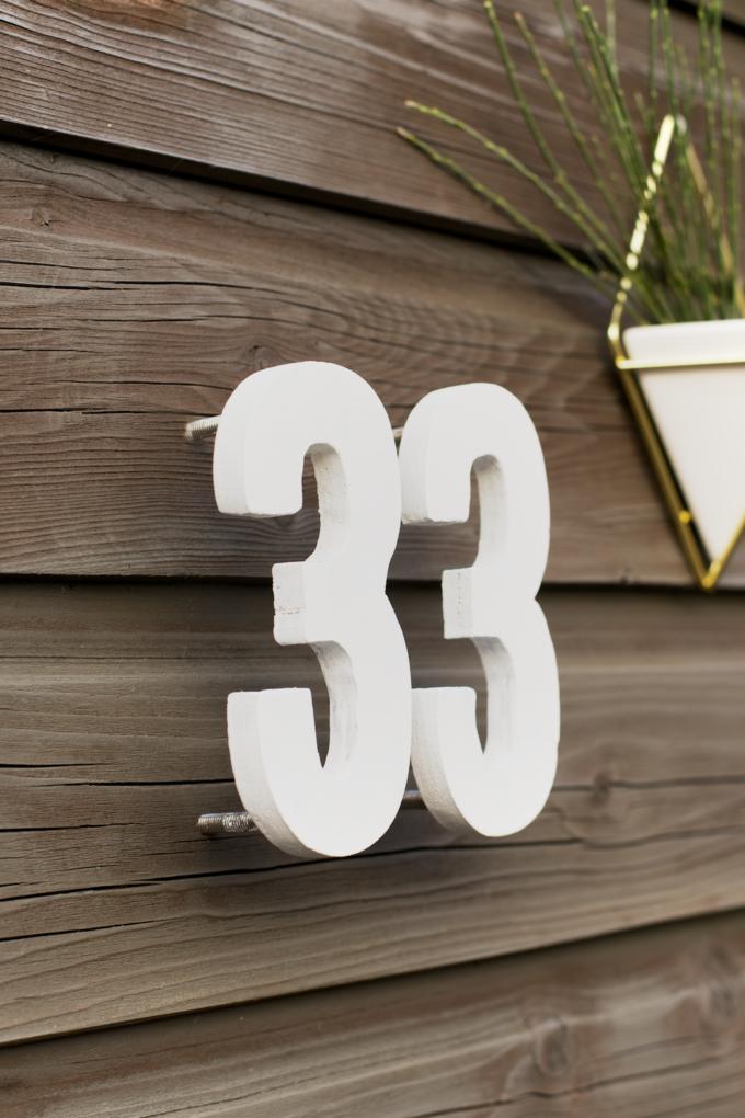 DIY zelfgemaakte huisnummers (15)