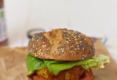 Vega burger, recept vegatarische burger