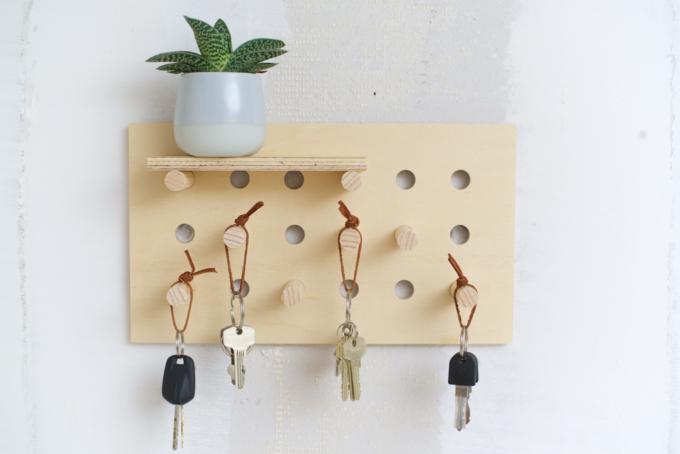 DIY pegboard sleutelrek (4)