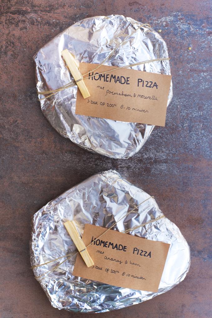 zelfgemaakte bevroren pizza's 1