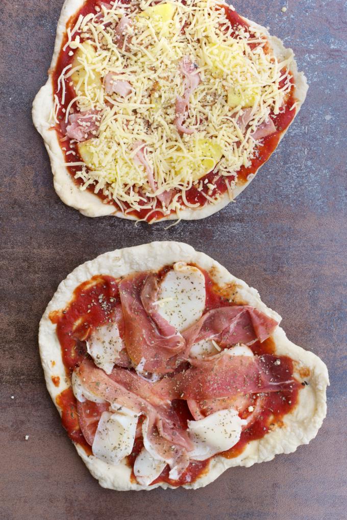 zelfgemaakte bevroren pizza's (1)