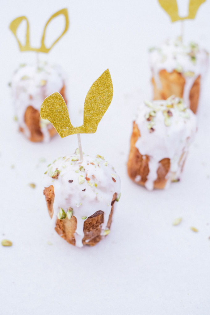 Pasen DIY - bunny caketoppers