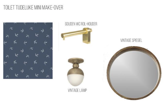 Toilet tijdelijke mini make-over