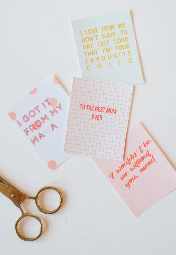 Printable moederdagkaarten