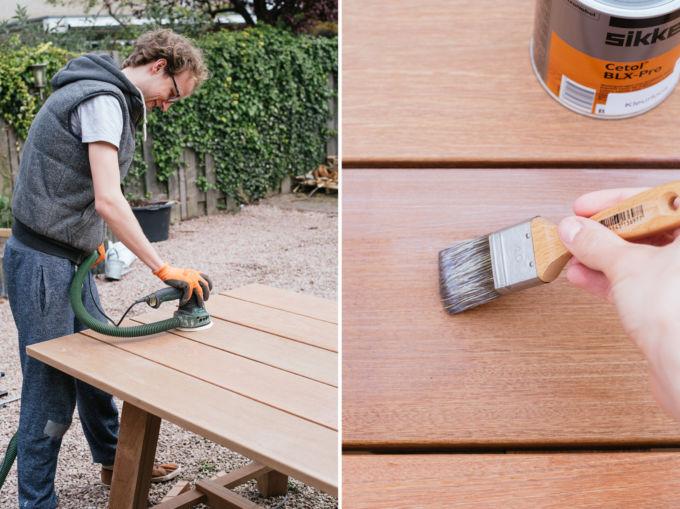 Hoe maak je een tuintafel van hout