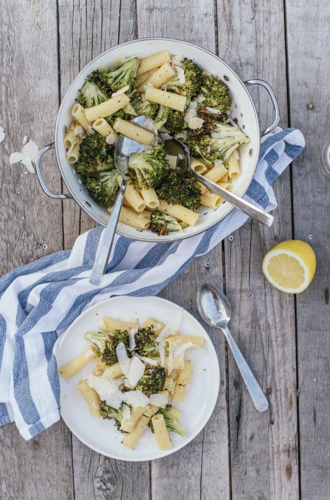 pasta met geroosterde broccoli-3