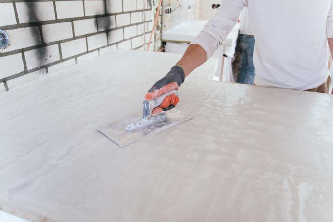 hoe maak je een aanrecht van beton