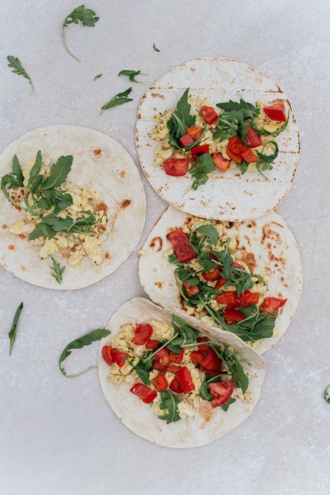 tortilla's met ei, ontbijt tortilla's-5