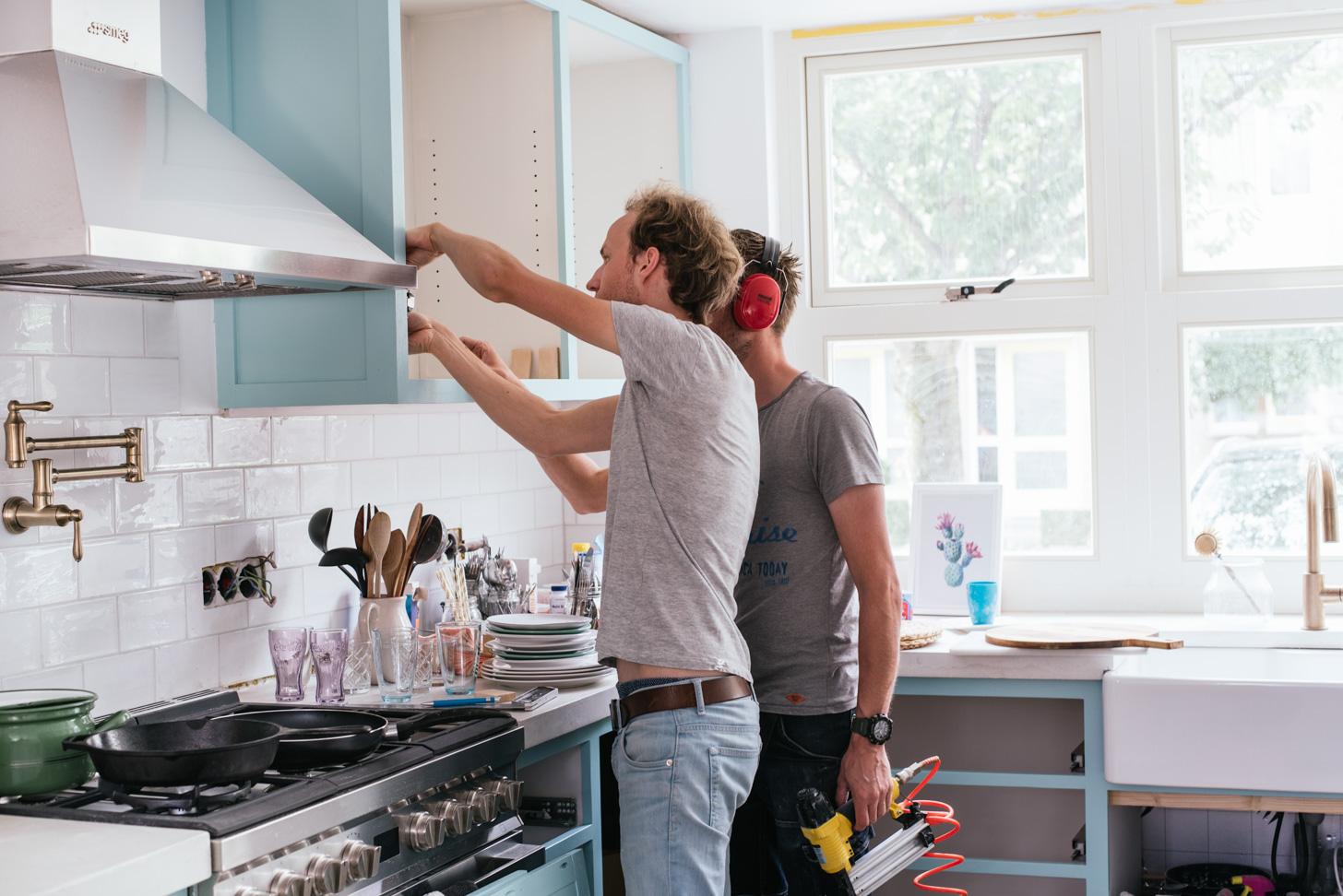 Keuken Verf Kleuren : Hoe verf je je keuken blauw a cup of life