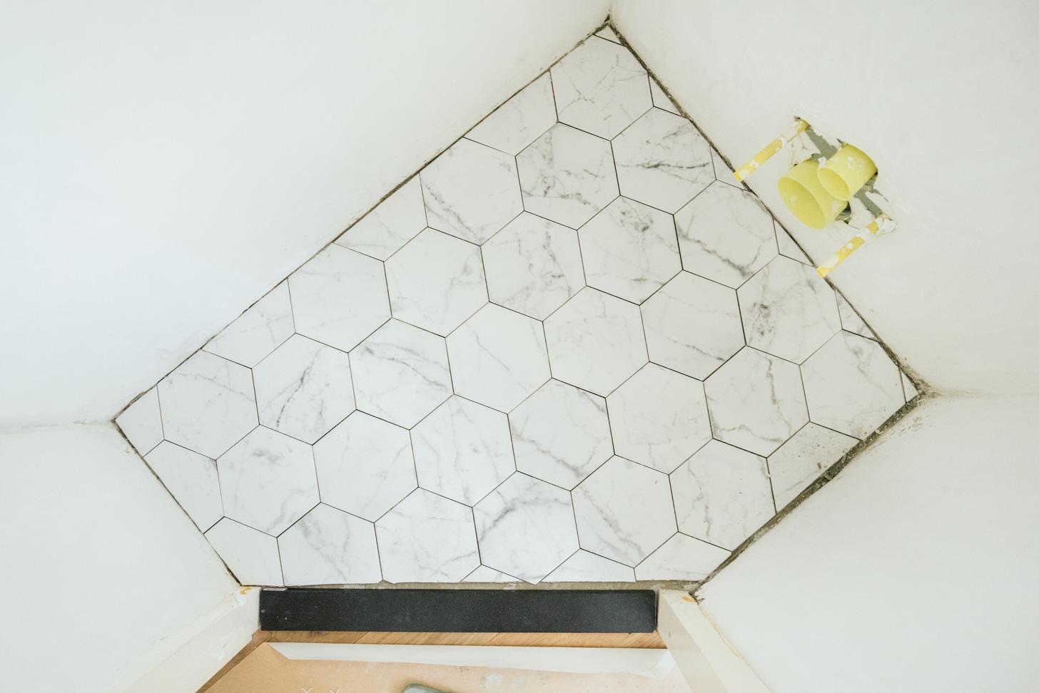 hexagon tegels leggen