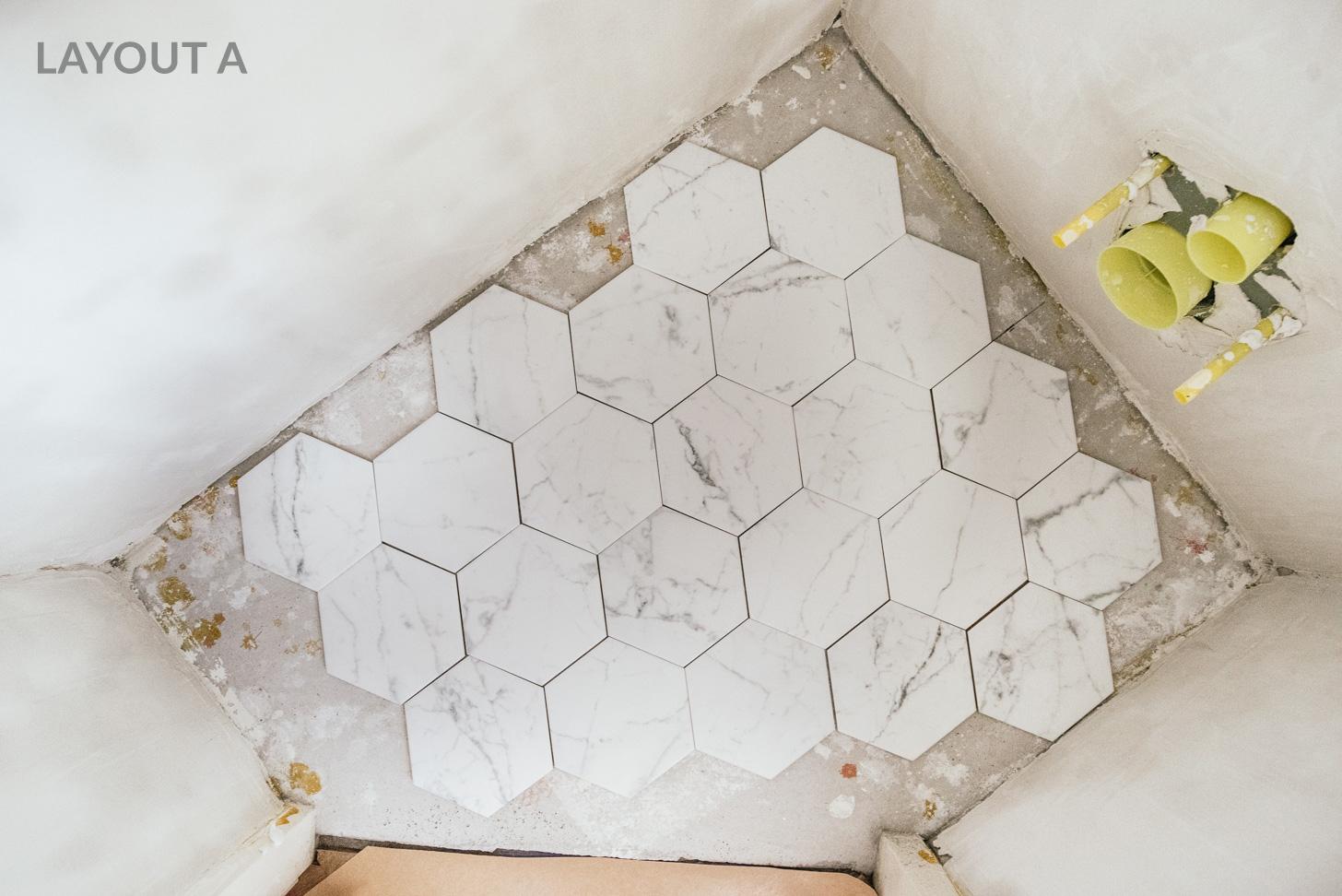 Hexagon Tegels Wit : Hoe leg je hexagon tegels honingraat vloer a cup of life