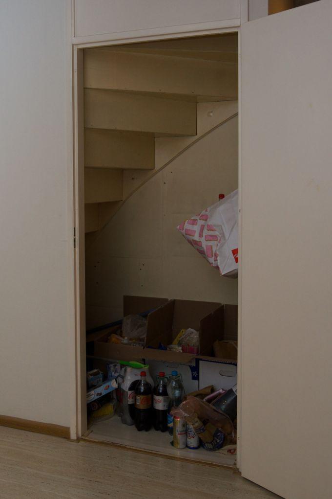 voorraadkast onder trap